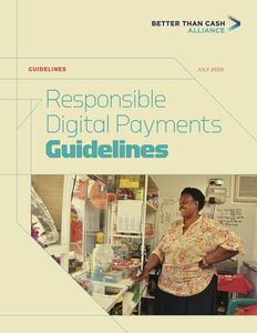 Responsible Digital Payments Guidelines - Guidelines
