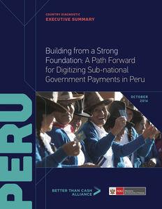 Country Diagnostic: Peru (highlights)