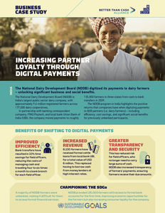 NDDB Dairy ✪ Increasing partner loyalty through digital payments