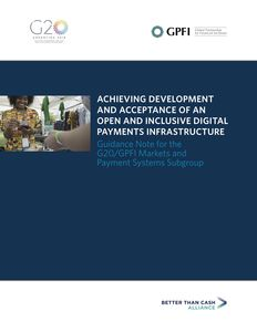 Achieving Development And Acceptance Of An Open And Inclusive Digital Payments Infrastructure