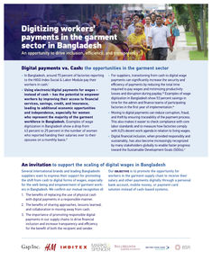 Digitizing Worker's Payments in the Garment Sector in Bangladesh