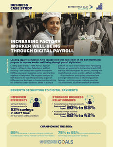 BSR ✪ Increasing factory worker well-being through digital payroll