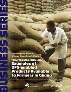 Examples of DFS-enabled Products Available to Farmers in Ghana