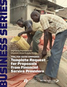 Template Request for Proposals from Financial Service Providers