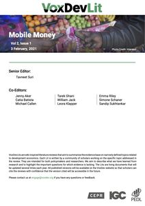 VoxDev Lit: Mobile Money (literature review)