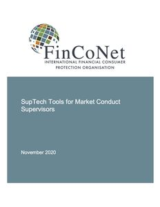 FinCoNet: SupTech Tools for Market Conduct Supervisors